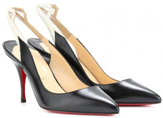 christian louboutin back25 85mm slingbacks