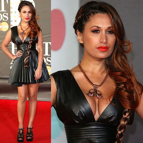 Preeya Kalidas at the 2013 BRIT Awards held at O2 Arena in London, England on February 20, 2013