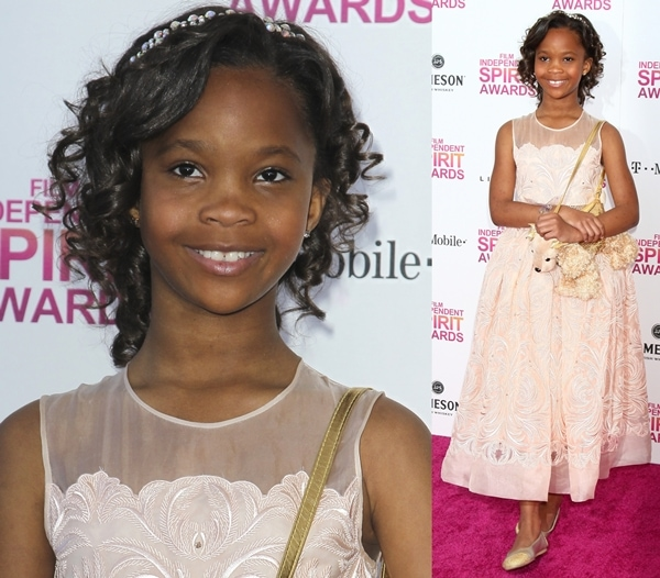 Actress Quvenzhané Wallis attends the 2013 Film Independent Spirit Awards at Santa Monica Beach in Santa Monica, California, on February 23, 2013