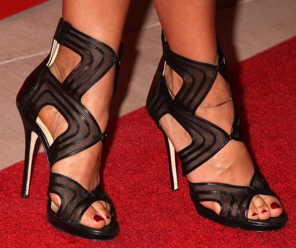 Rashida Jones wearing Jimmy Choo heels