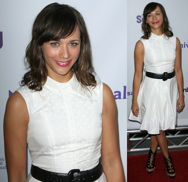 Rashida Jones at the NBC Press Tour Party held at The Bazaar at the SLS Hotel in Los Angeles on August 1, 2011