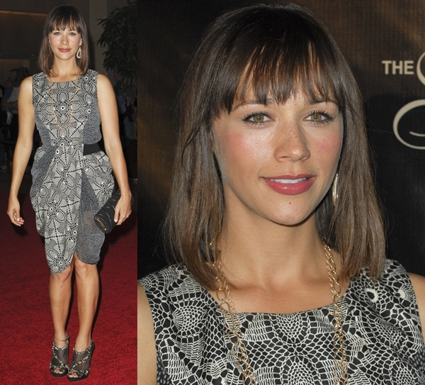 Rashida Jones styled the glittering shoes with an outfit from the Thakoon Fall 2010 Ready-to-Wear Collection