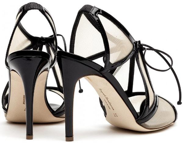 Rupert Sanderson Harting Sandals in Black