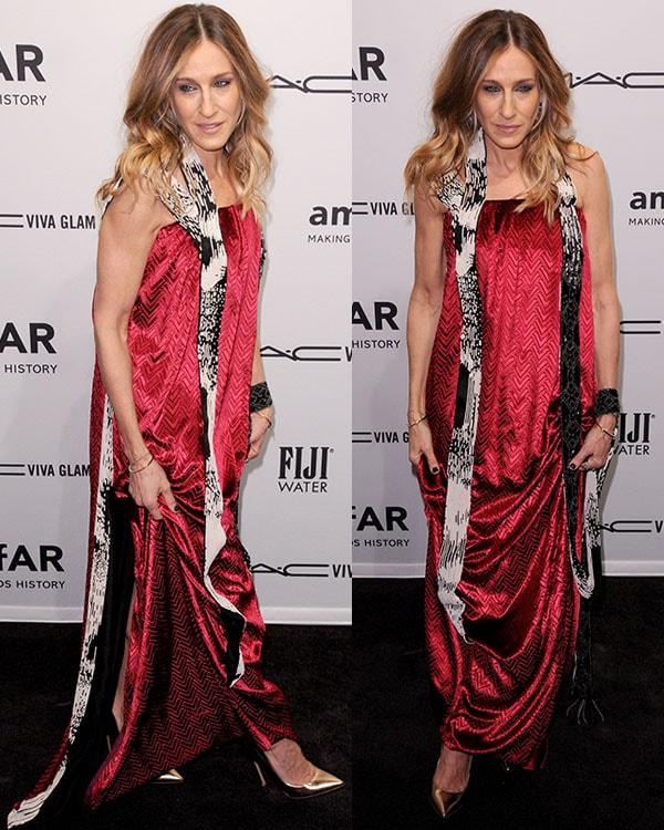 Sarah Jessica Parker at the amfAR gala held at Cipriani Wall Street