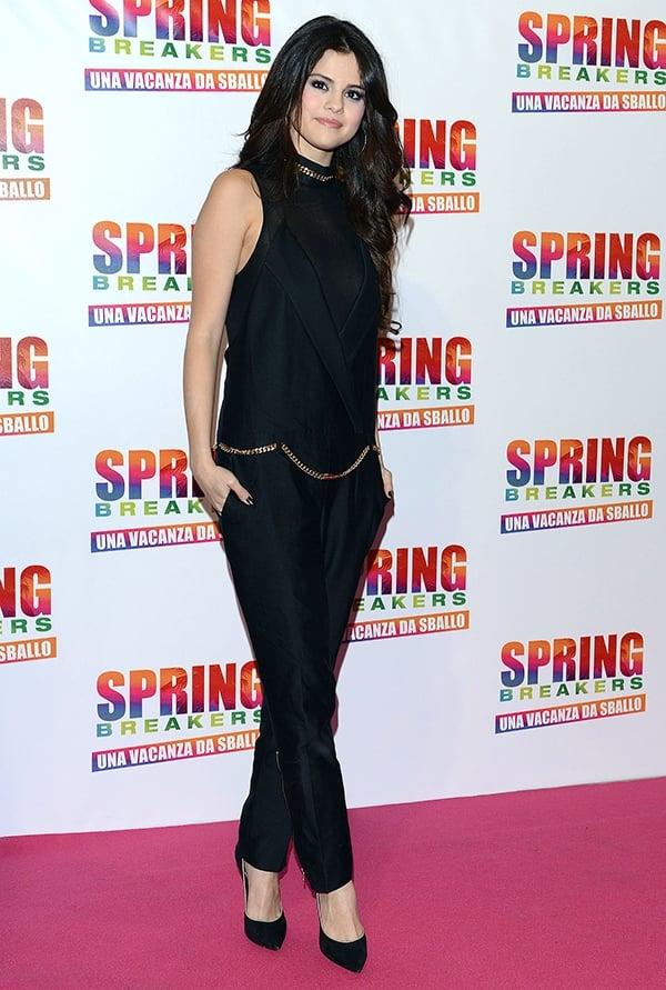 Selena Gomez at 'Spring Breakers' Italian Premiere