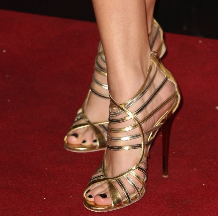 Selena Gomez shows off her sexy toes in strappy Jimmy Choo sandals