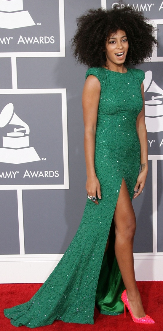 Solange Knowles at the 55th Annual Grammy Awards held at Staples Center in Los Angeles, California on February 10, 2013