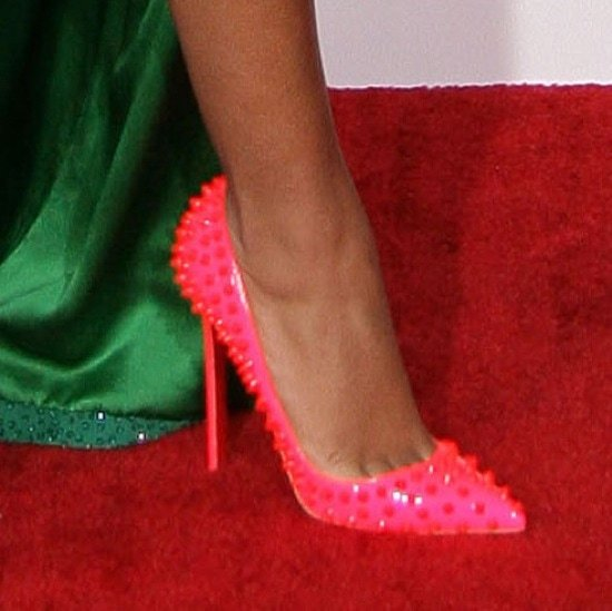 Solange Knowles wearing Christian Louboutin 'Pigalle Spikes' pumps