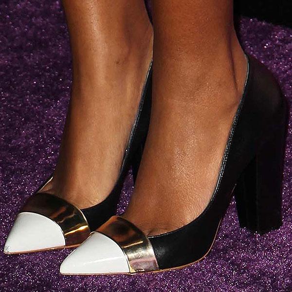 Solange Knowles cap toe pumps