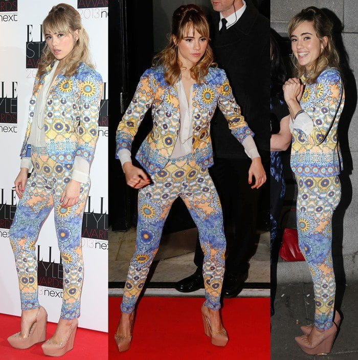 Suki Waterhouse rocked a floral suit on the red carpet