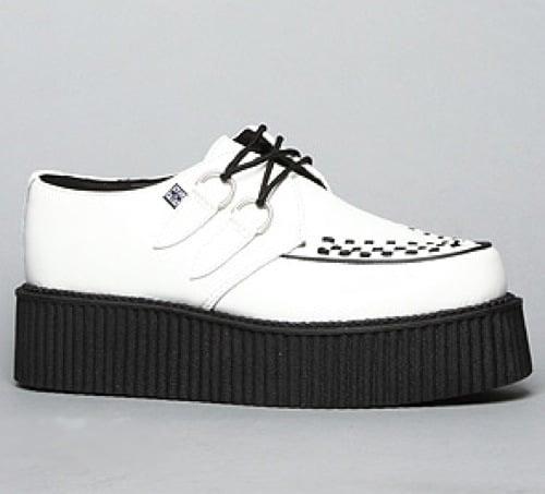 T.U.K. The Mondo Creeper Shoe in White Leather