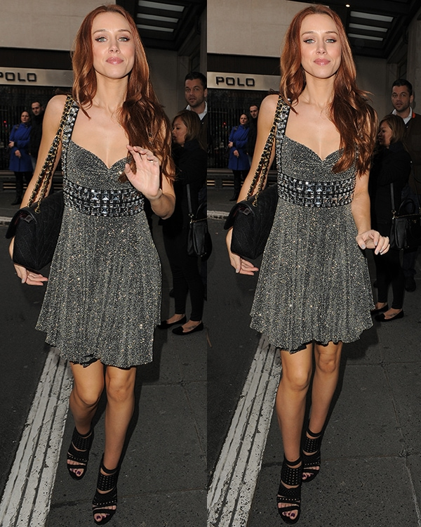 Una Healy at the Julien Macdonald show during London Fashion Week Fall/Winter 2013/14 at Goldsmiths' Hall on February 16, 2013, in London, England