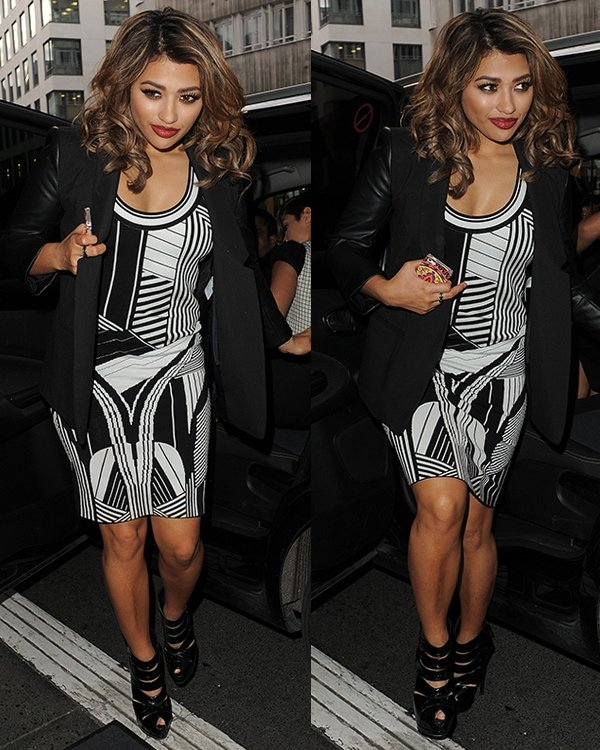 Vanessa White at the Julien Macdonald show during London Fashion Week Fall/Winter 2013/14 at Goldsmiths' Hall on February 16, 2013, in London, England