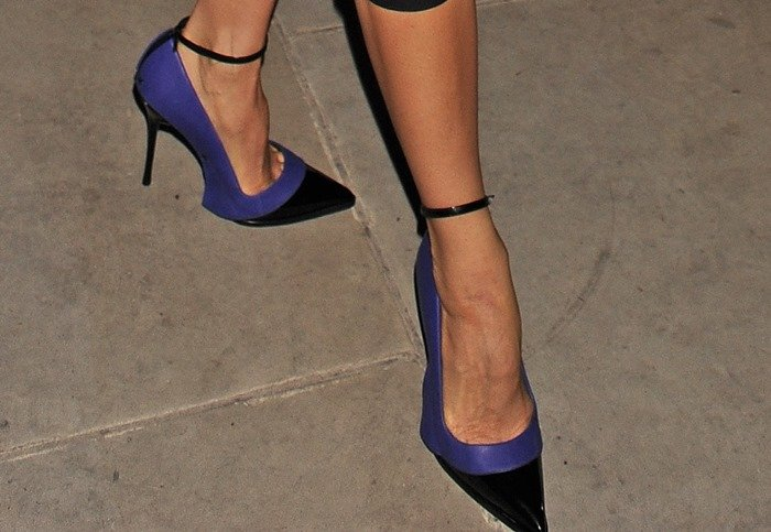Victoria Beckham wearing heels from her own upcoming Fall/Winter 2013 collection