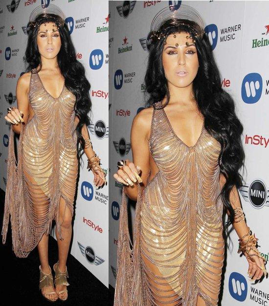 Z La La at the 55th Annual Grammy Awards