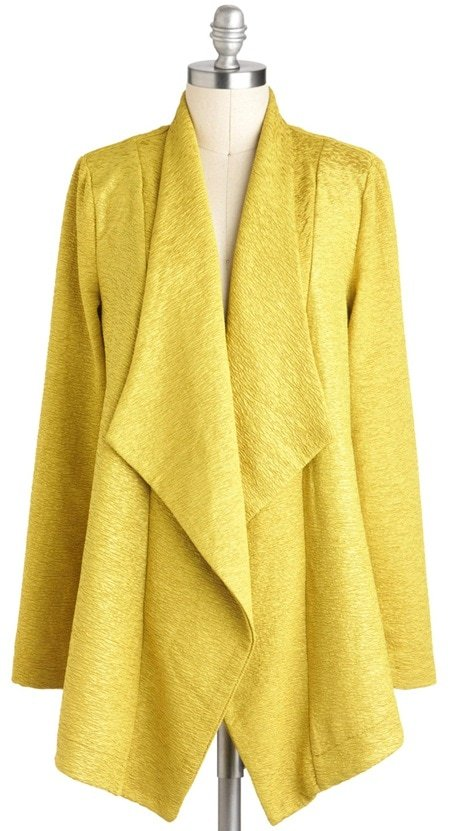 mink pink lets call a chartreuse jacket