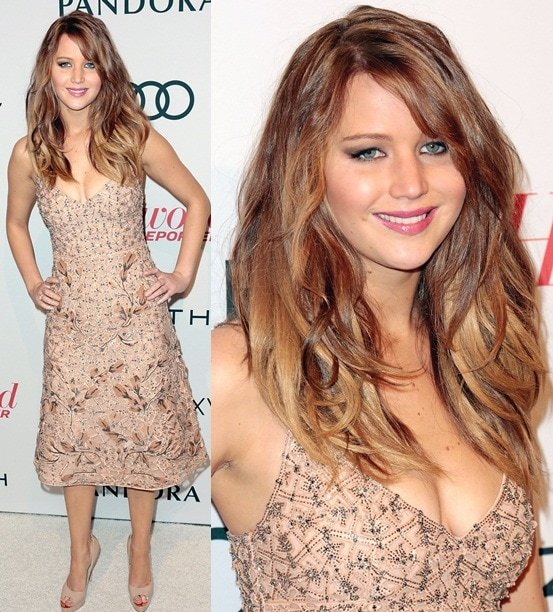 Jennifer Lawrence Feb 4 Hollywood Reporter Nominees' Night 2013