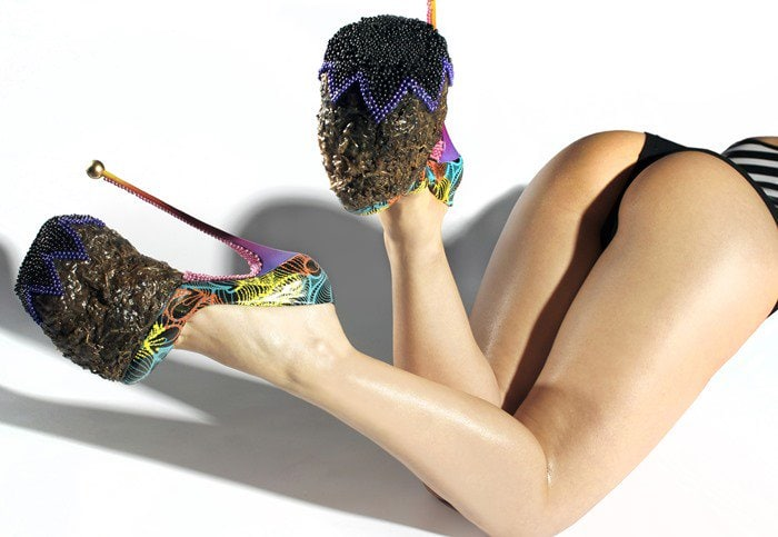 Elephant dung shoes by INSA