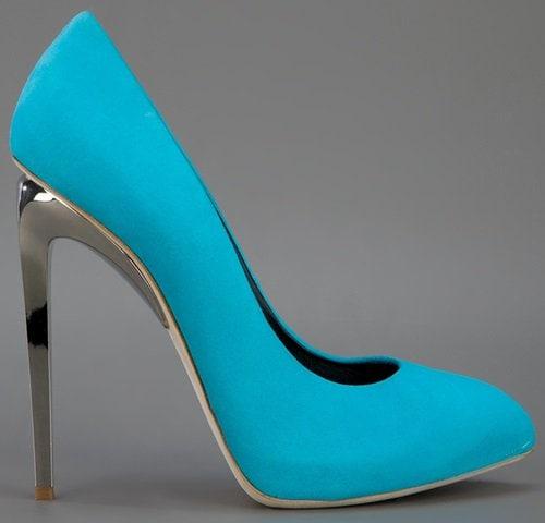 giuseppe zanotti mirror heel pump turquoise