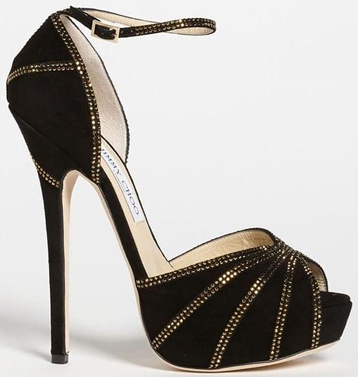 Jimmy Choo Kalpa Sandals in Black/Gold