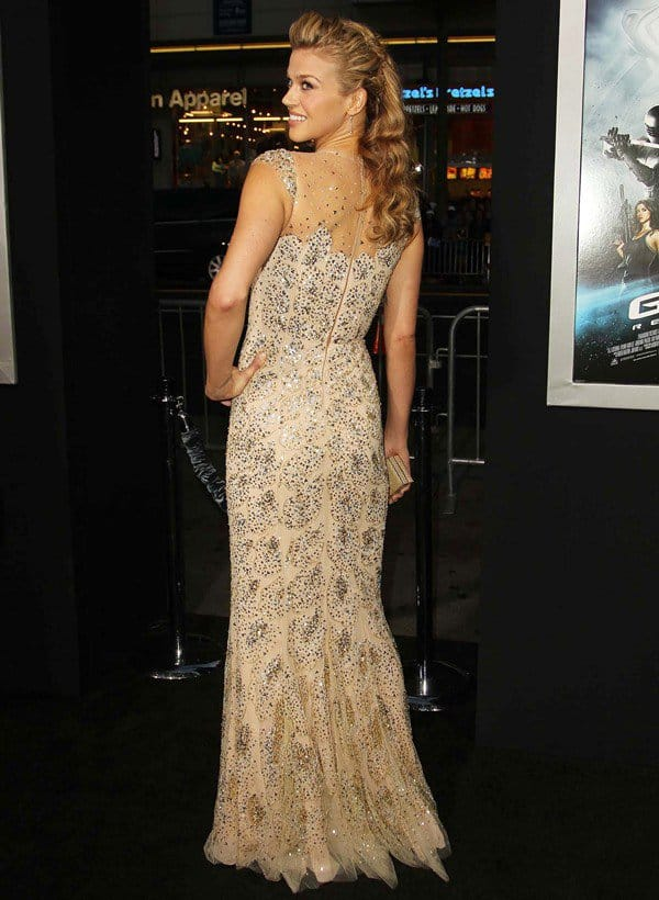 Adrianne Palicki In Reem Acra – 'G.I. Joe: Retaliation' LA Premiere