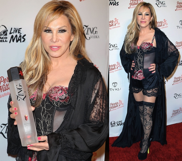 Adrienne Maloof arrives at Perez Hilton's 35th Birthday Party Extravaganza at El Rey Theatre on March 23, 2013, in Los Angeles, California