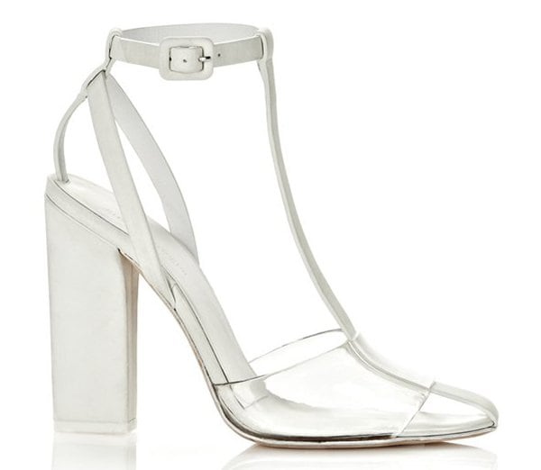 These glow-in-the-dark Alexander Wang sandals make a daring, playful statement, designed with slender straps and a clear band of PVC