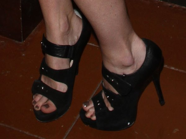 Alice Eve wearing Jerome C. Rousseau sandal booties