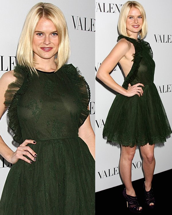 Alice Eve The Valentino Rodeo Drive Flagship store opening - Arrivals Los Angeles, California March 27, 2012