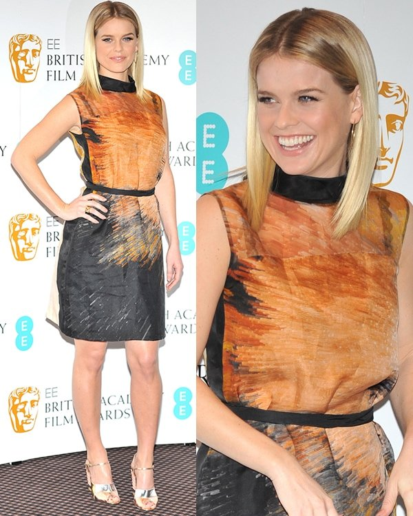 Alice Eve at EE British Academy Film Awards in 2013 Nominations held at BAFTA Piccadilly London United Kingdon January 9, 2013