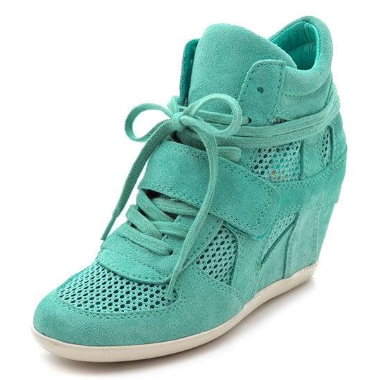 Ash Bowie Wedge Sneakers in Celadon