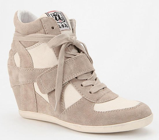 Ash Bowie Wedge Sneakers in Clay