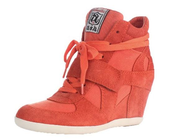 Ash Bowie Wedge Sneakers in Orange