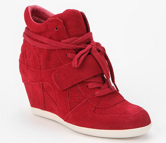 Ash Bowie Wedge Sneakers in Red