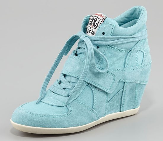 Ash Bowie Wedge Sneakers in Turquoise