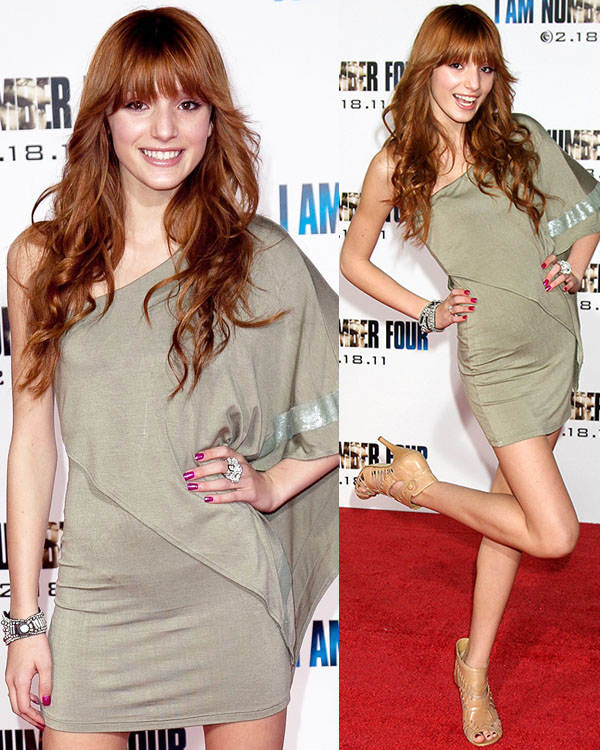 Bella Thorne at the Los Angeles premiere of I Am Number Fourheld at the Village Theatre in Los Angeles on February 9, 2011