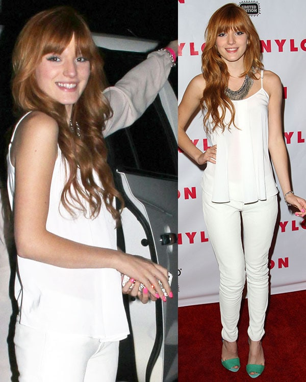 Bella Thorne looking pretty at Nylon magazine's 13th-anniversary party