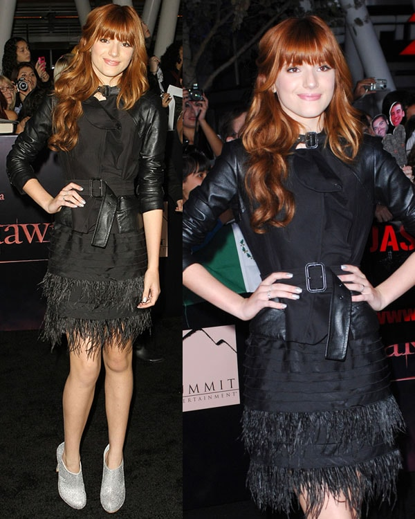 Bella Thorne at the Twilight Saga: Breaking Dawn -- Part 1world premiere held at Nokia Theatre LA Live in Los Angeles on November 14, 2011