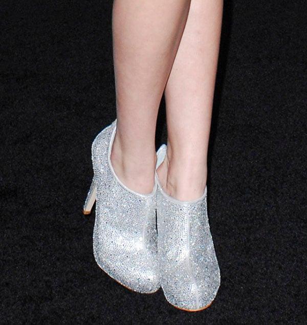 Bella Thorne's glittering Steve Madden boots