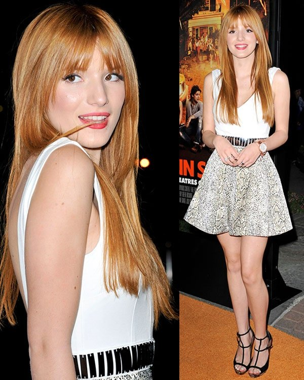 Bella Thorne at the premiere of Paramount Pictures' Fun Size