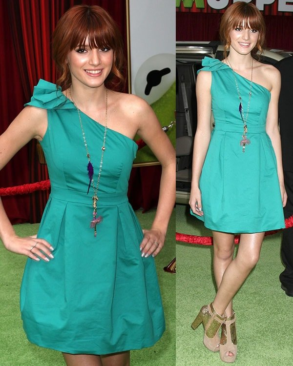 Bella Thorne flashed her hot legs at the premiere of Walt Disney Pictures' The Muppets