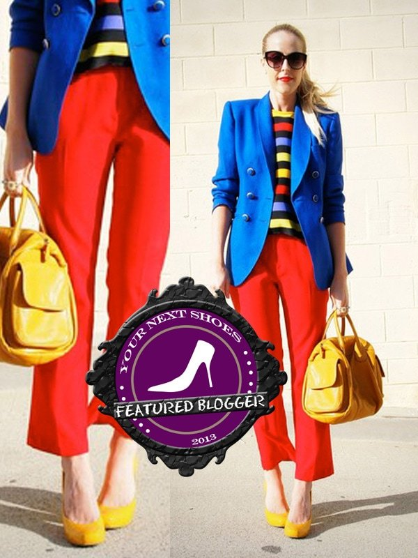 Beth of The Vintage Society in yellow Aldo pumps