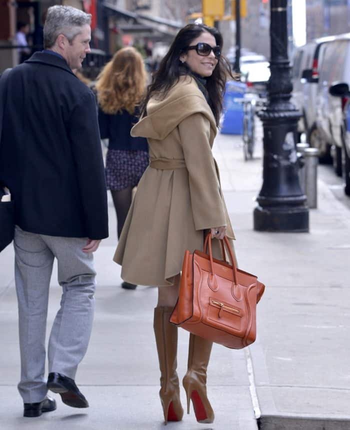 Bethenny Frankel and her publicist head to a meeting at a downtown hotel in New York City on March 13, 2013