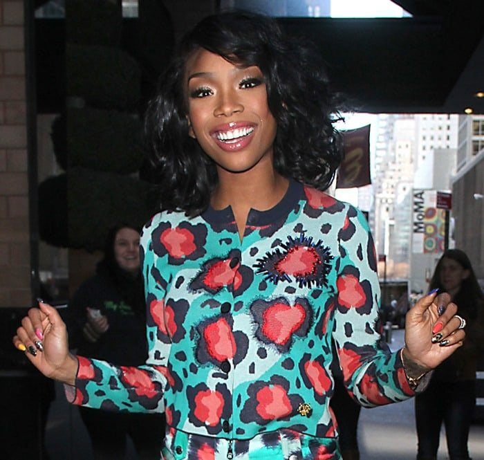 Brandy Norwood arriving back at her hotel after an appearance on The Wendy Williams Show in Manhattan on March 26, 2013