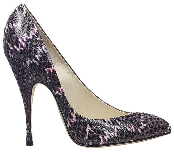 """Brian Atwood """"Nico"""" Pumps in Violet Snake"""