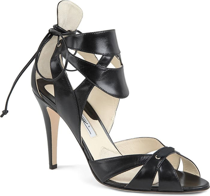 Brian Atwood Uma Leather Ankle-Cuff Platform Sandals
