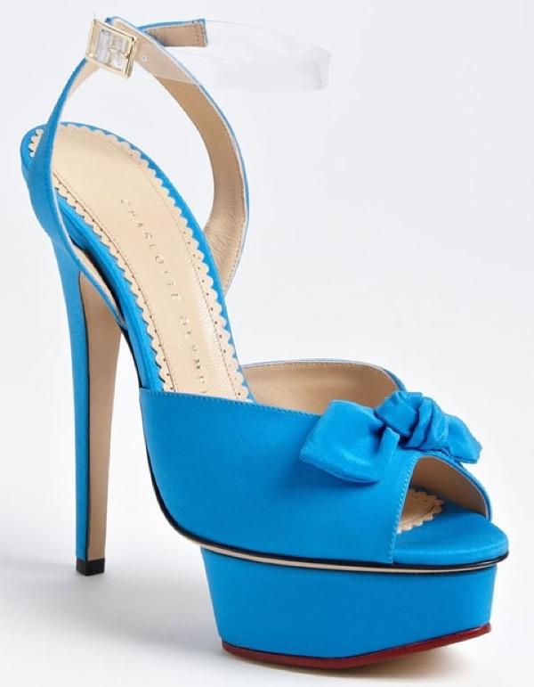 "Blue Charlotte Olympia ""Serena"" Sandals"