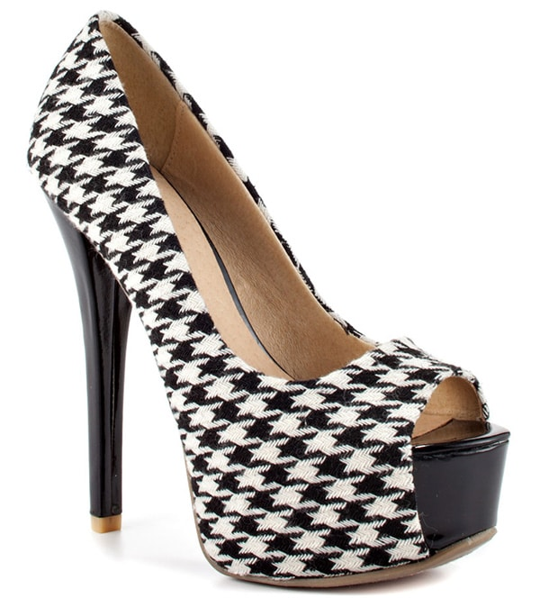 Houndstooth Chinese Laundry 'Triple Major' Pumps