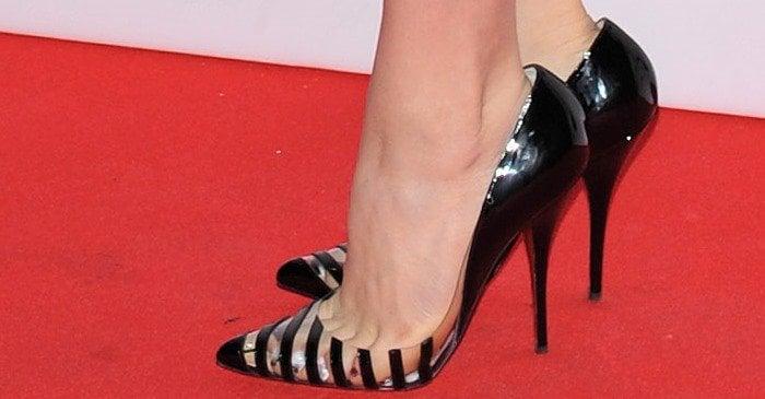Chloë Grace Moretz shows off her feet in Christian Louboutin 'Pivichic' heels