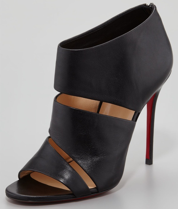 Christian Louboutin Cachottiere Cutout Red Sole Bootie $995.00